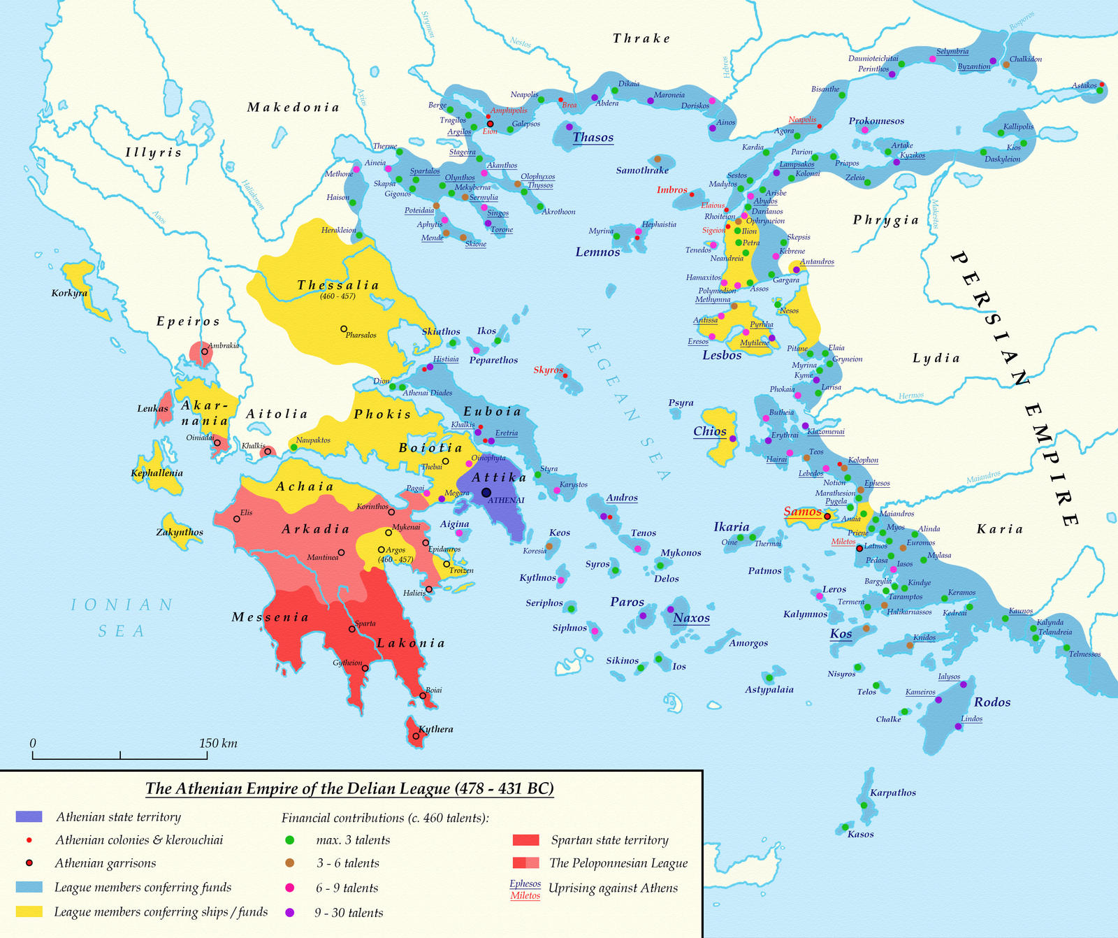 The Atenian Empire of The Delian League, 478 - 431 BC
