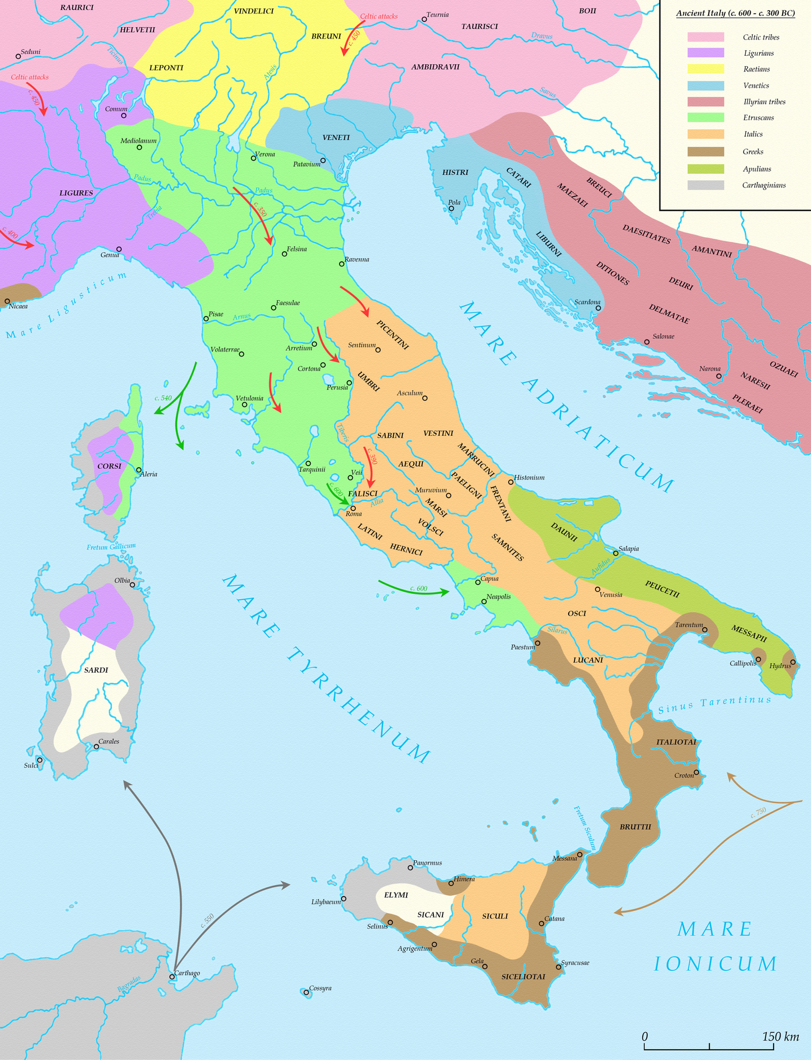 Ancient Italy (c. 600 - c. 300 BC) by Undevicesimus