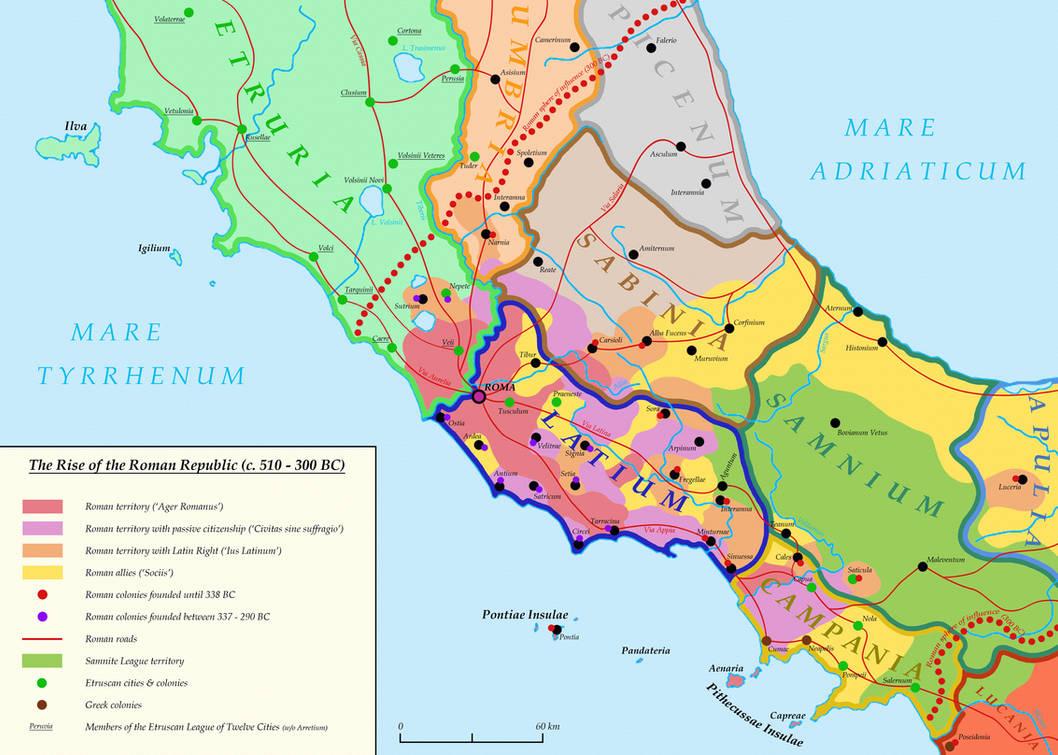 Roman Republic Map on