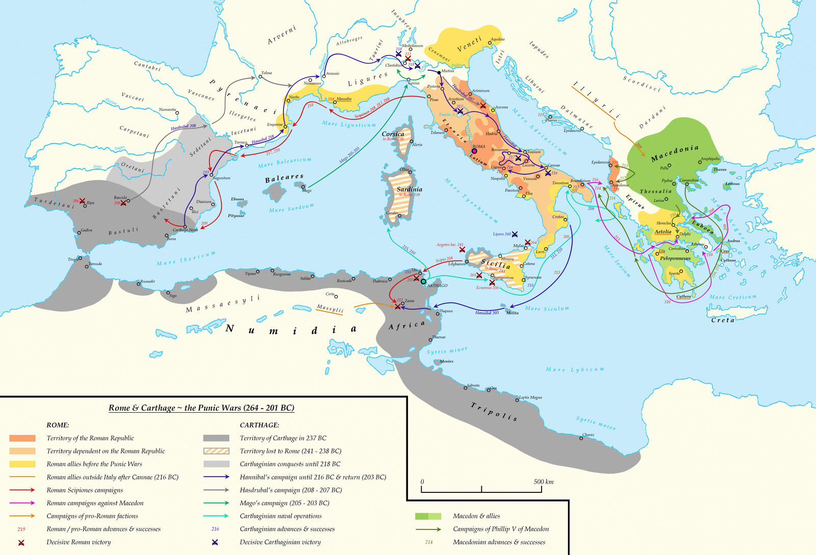 Rome and Carthage ~ The Punic Wars (264 - 201 BC)