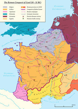 The Roman Conquest of Gaul (58 - 51 BC)