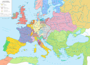 Europe (AD 1648) ~ The Peace of Westphalia by Undevicesimus