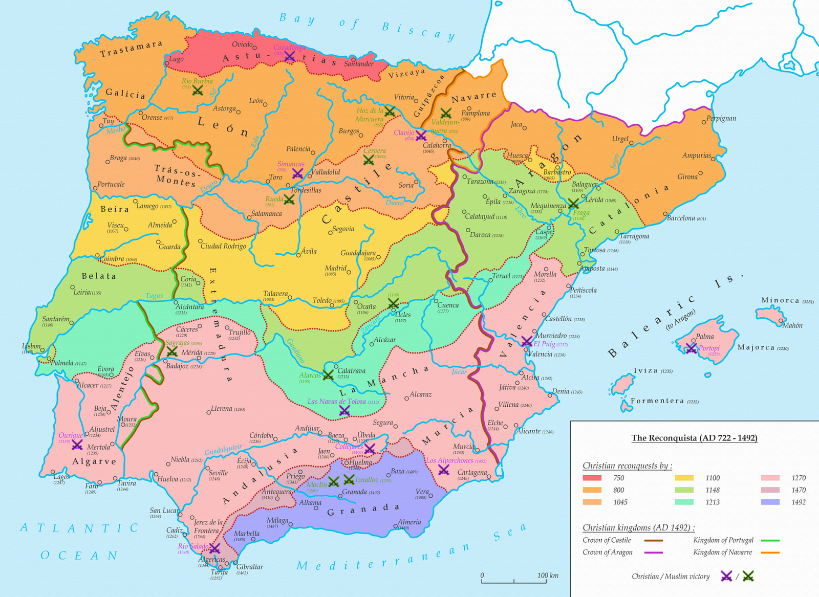 The Reconquista AD 722 1492 by undevicesimus on DeviantArt