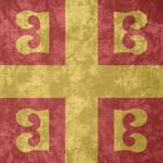 Byzantine Empire ~ Grunge Flag (1259 - 1453)