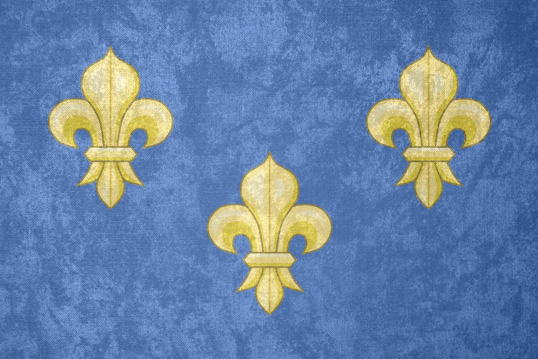 Kingdom Of France Grunge Flag 1328