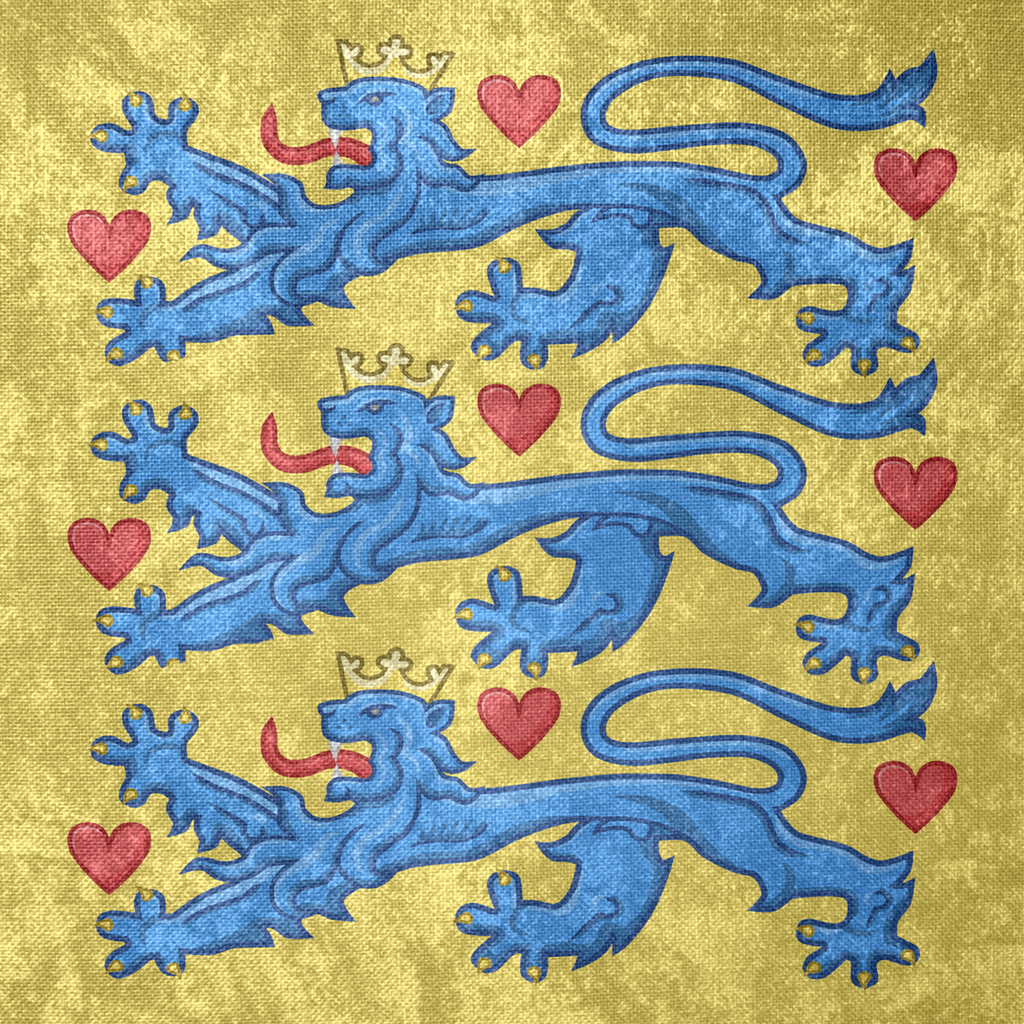 kingdom of denmark coa grunge flag c 1200 by undevicesimus