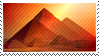 Great Pyramids of Giza stamp by Undevicesimus