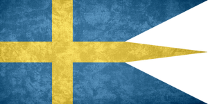 Kingdom of Sweden ~ Grunge War Flag (1663/1906 - )