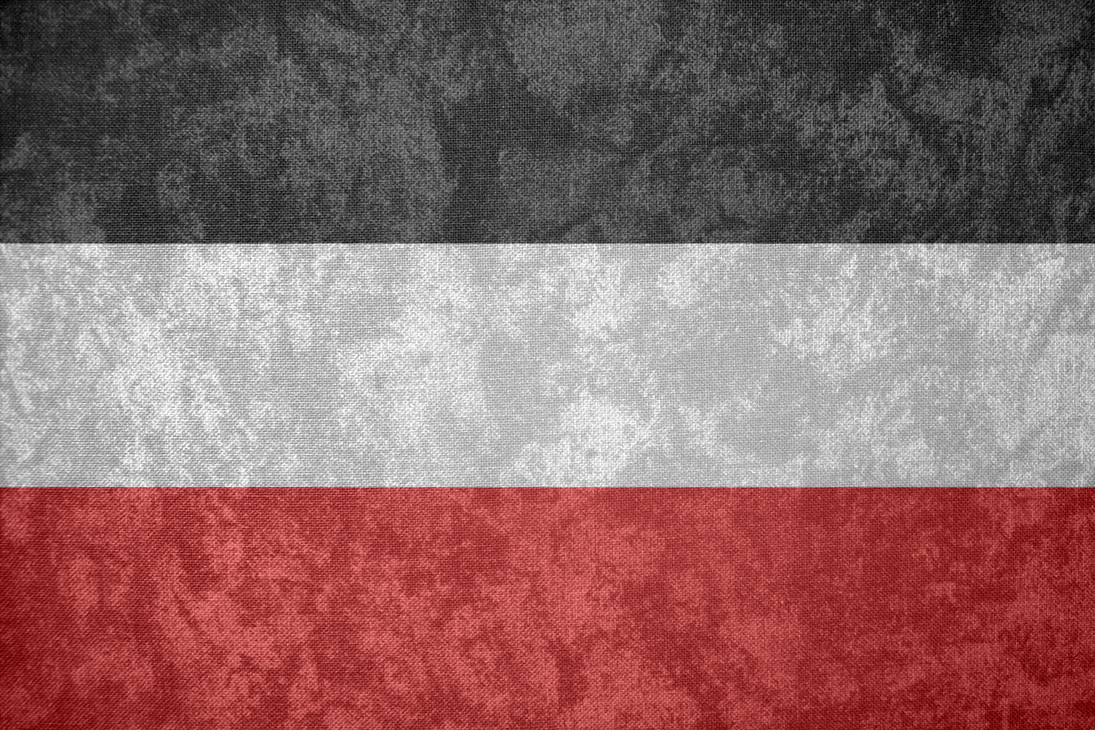 German Empire Grunge Flag 1871