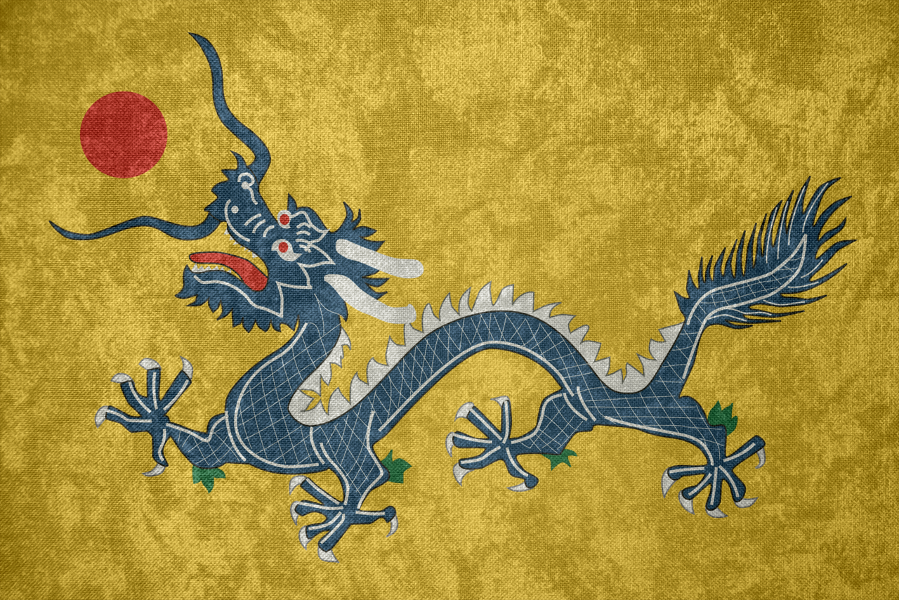 qing grunge flag 1889 1912 by undevicesimus on