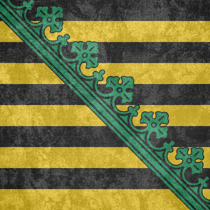 Electoral Saxony ~ CoA Grunge Flag (1356 - 1806) by Undevicesimus