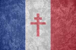 Free France ~ Grunge Flag (1940 - 1944)