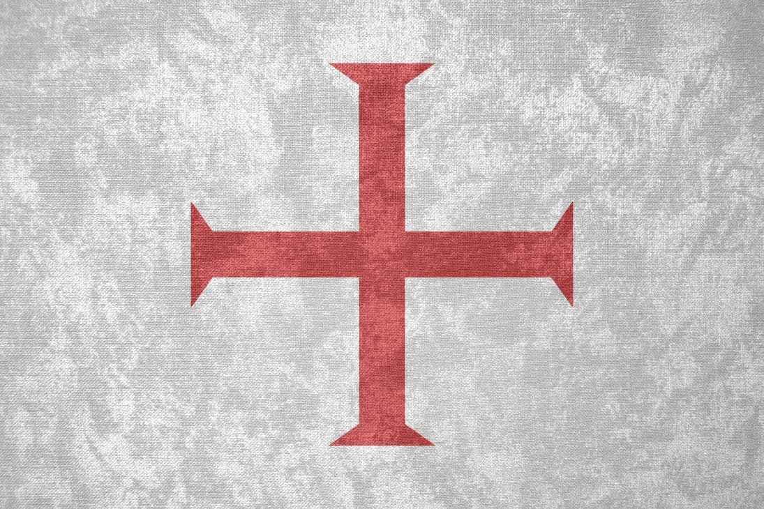 Knights Templar ~ Grunge Flag (c. 1129 - 1312) by Undevicesimus