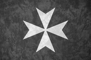 Knights Hospitaller ~ Grunge Flag (c. 1099 - ) by Undevicesimus