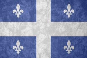 Quebec ~ Grunge Flag (1948 - ) by Undevicesimus