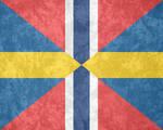 U.K. of Sweden-Norway ~ Grunge Mark (1844 - 1905)