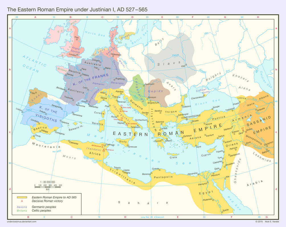 The Eastern Roman Empire Ad 527 565 By Undevicesimus On Deviantart