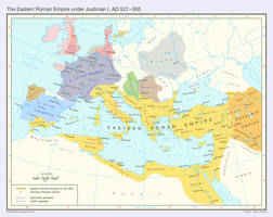 The Eastern Roman Empire, AD 527 - 565 by Undevicesimus
