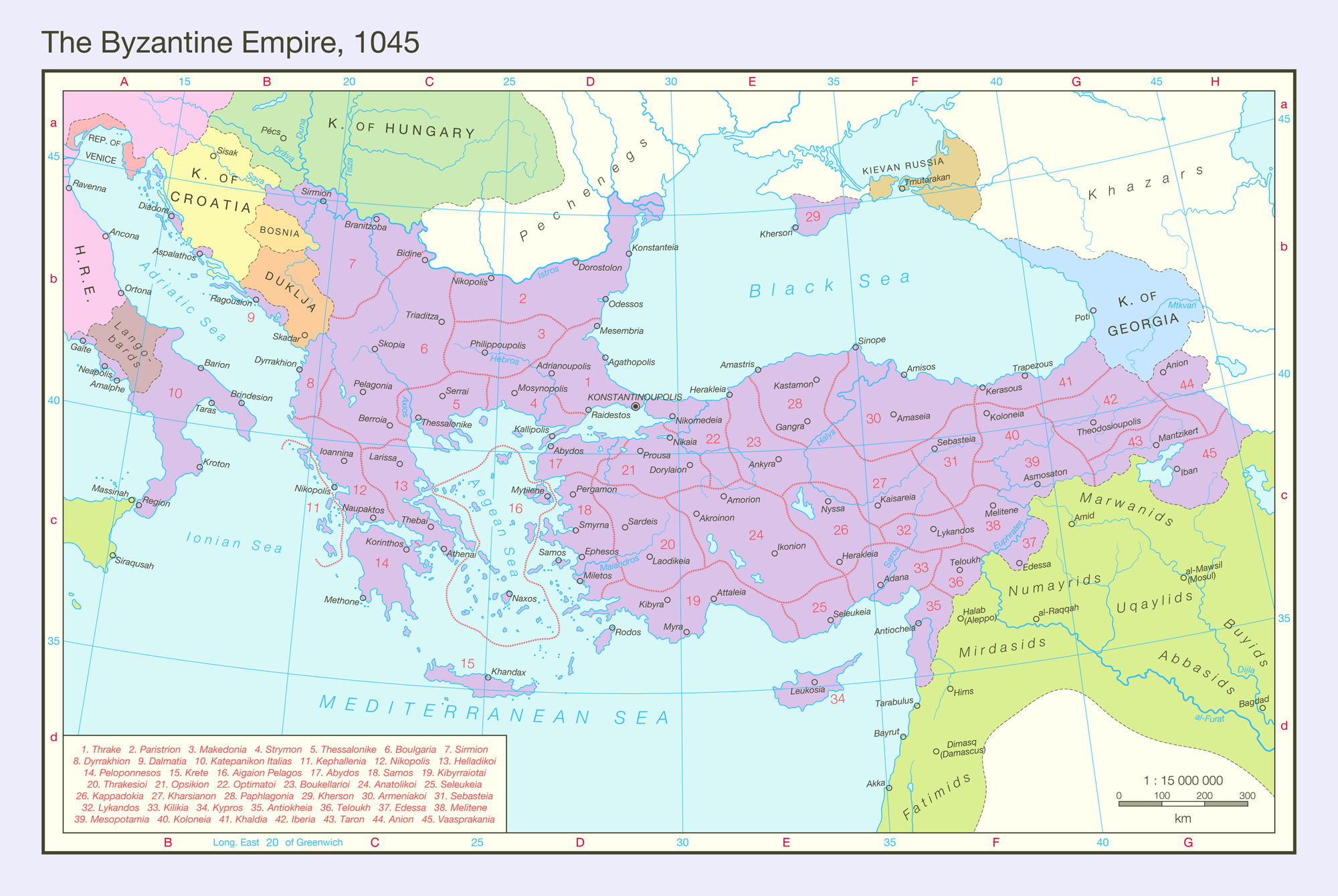 The Byzantine Empire, 1045