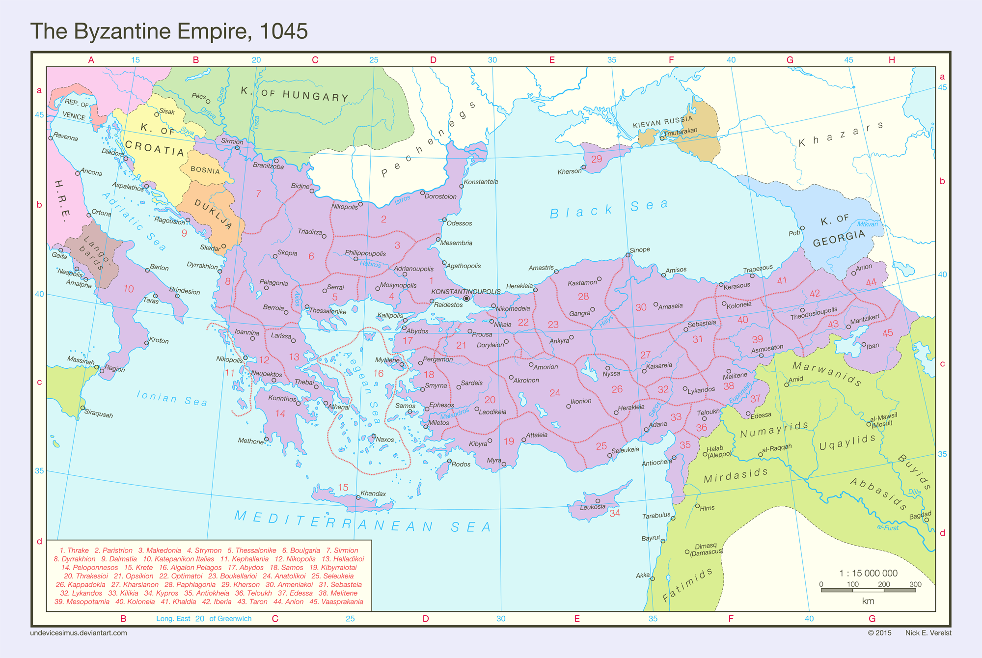 The Byzantine Empire, 1045 by undevicesimus