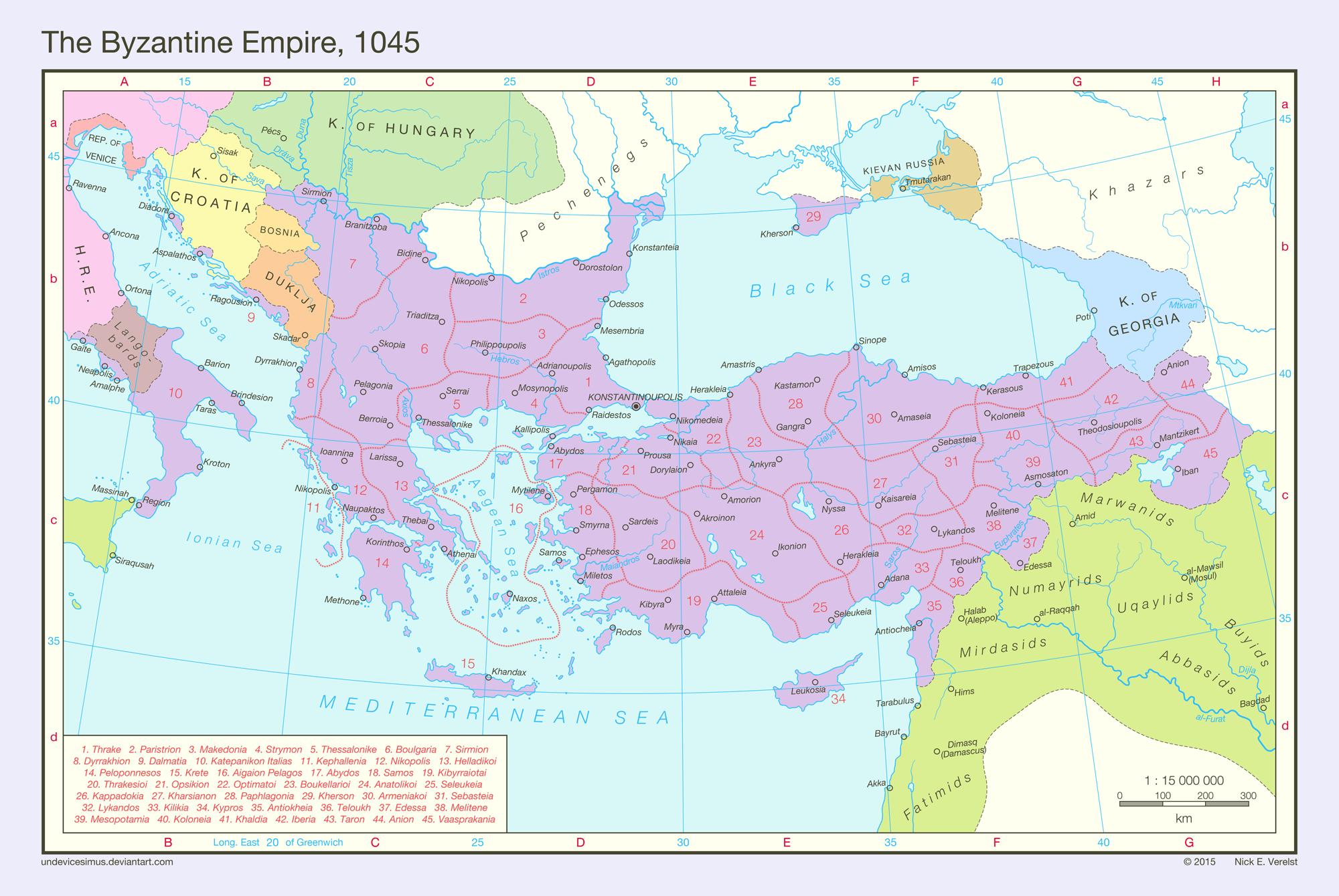 The Byzantine Empire, 1045 by Undevicesimus on DeviantArt