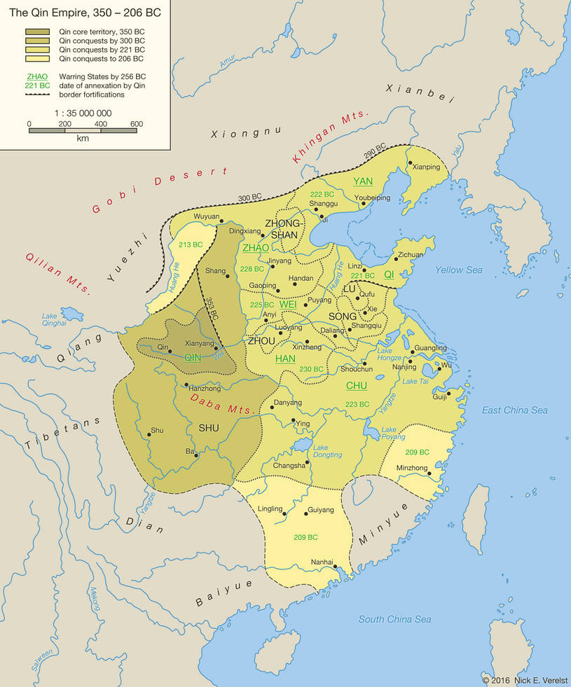The Qin Empire, 350 - 206 BC by Undevicesimus on DeviantArt Qin Empire Map on