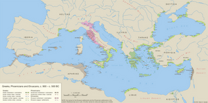 Greeks, Phoenicians and Etruscans, c. 900 - 500 BC