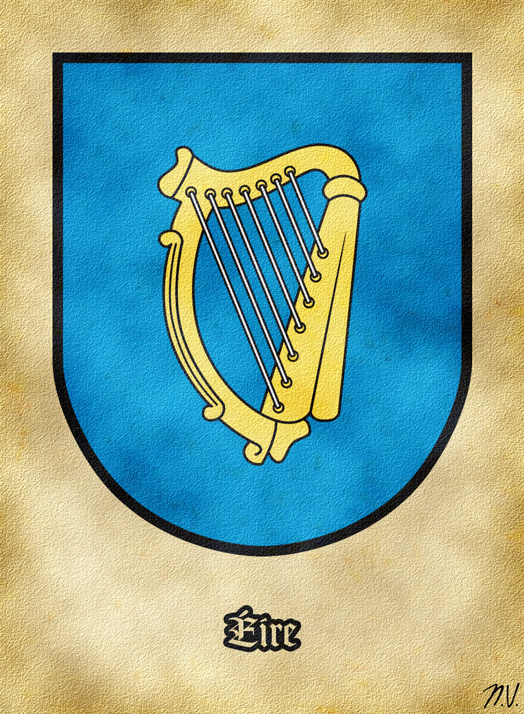 Arms of Ireland by Undevicesimus