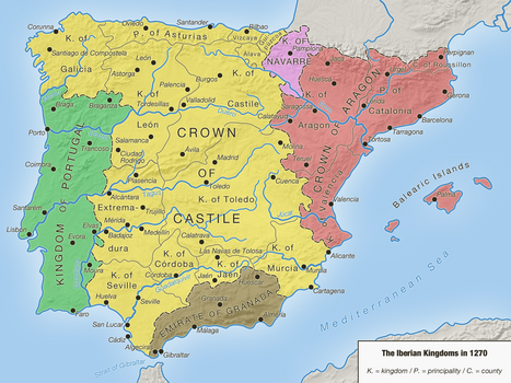 The Iberian Kingdoms in 1270