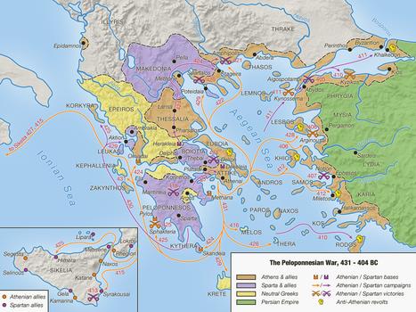 The Peloponnesian War, 431 - 404 BC