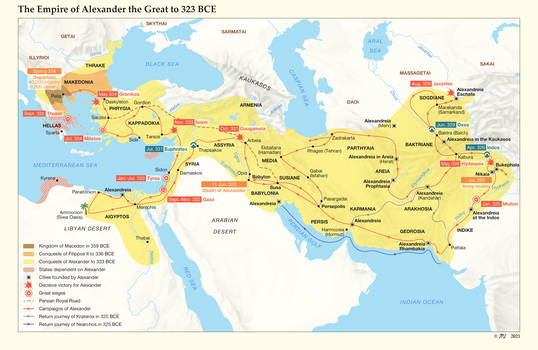 The Empire of Alexander the Great to 323 BCE