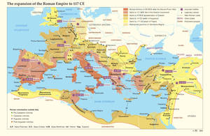 The expansion of the Roman Empire to 117 CE