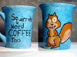 Squirrels Need Coffee Too
