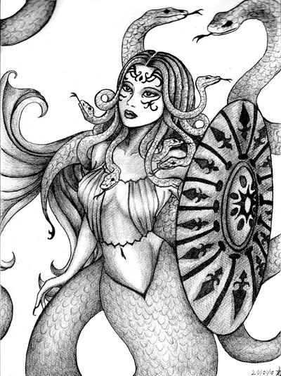 Medusa by Lyze-Enna