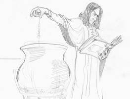 Potions Master at work by infiniteviking