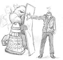 9th Doctor and a door