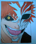 Ichigo with half hollow mask