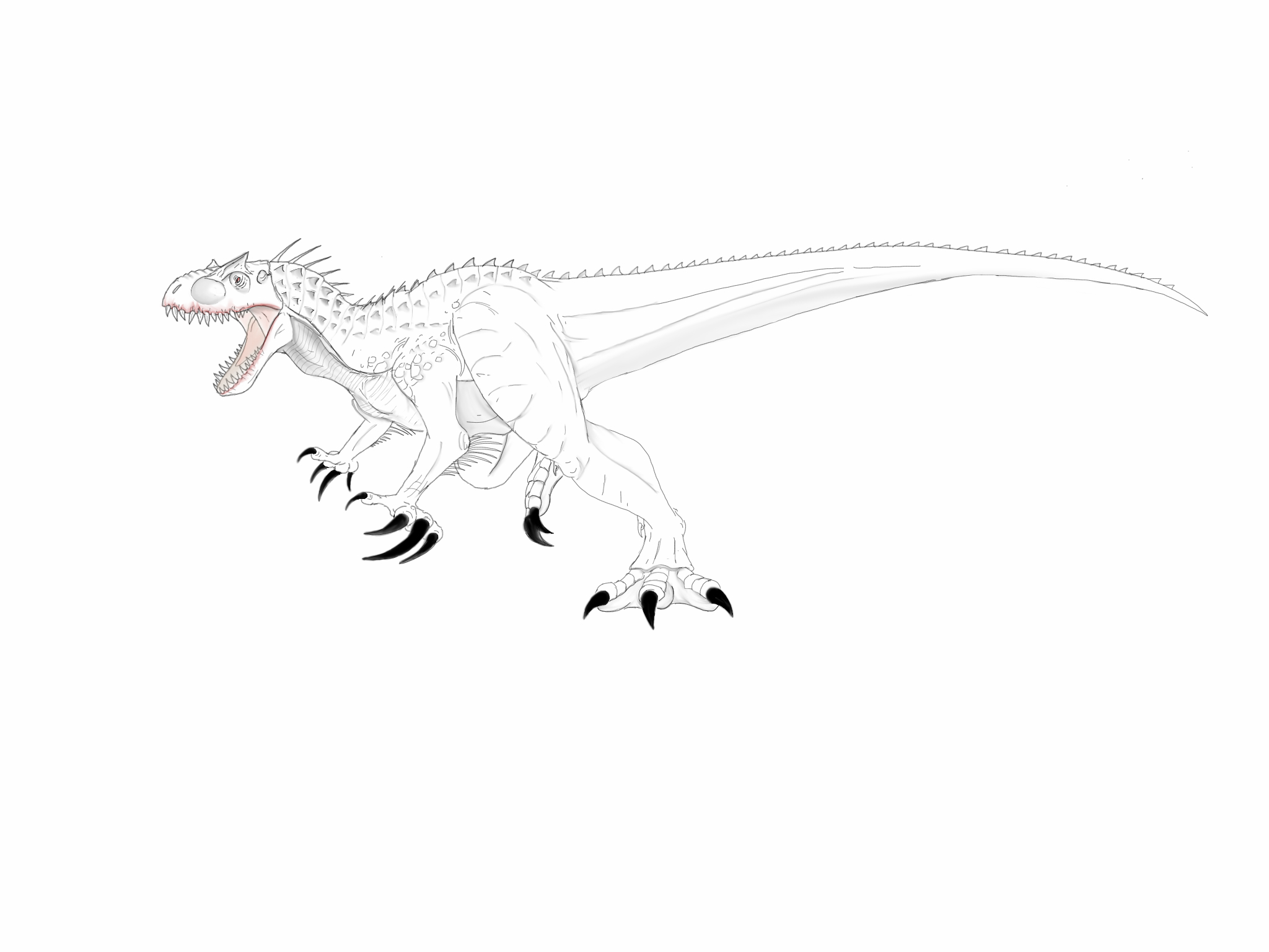 Kleurplaat Indominus Rex Jurassic Park Kleurplatenl Com