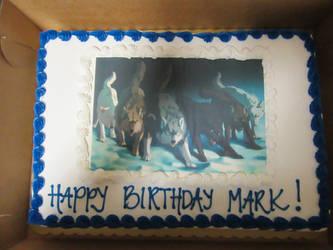 My Off-White Comic Birthday Cake by MIDNIGHTSKYWOLF26