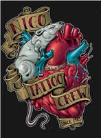 nico tattoo logo coloured by bhbettie