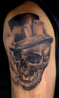 skull sleeve in progress