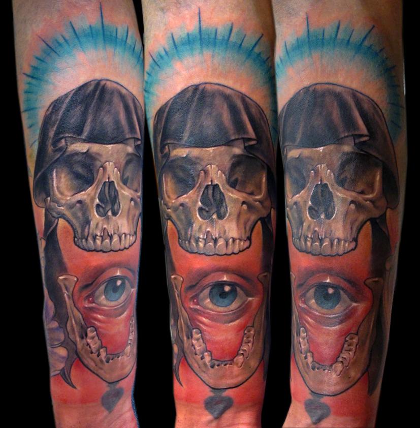 skull with eye by bhbettie