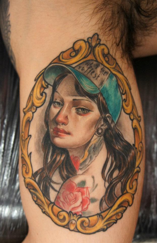 girl in frame by bhbettie