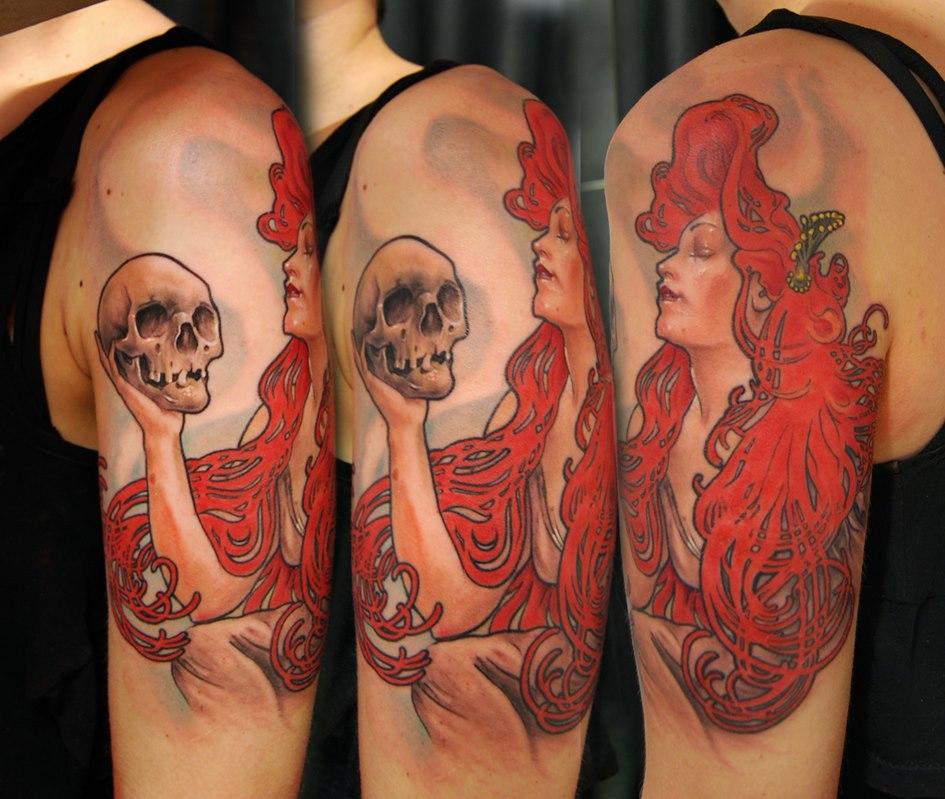 mucha tattoo by bhbettie