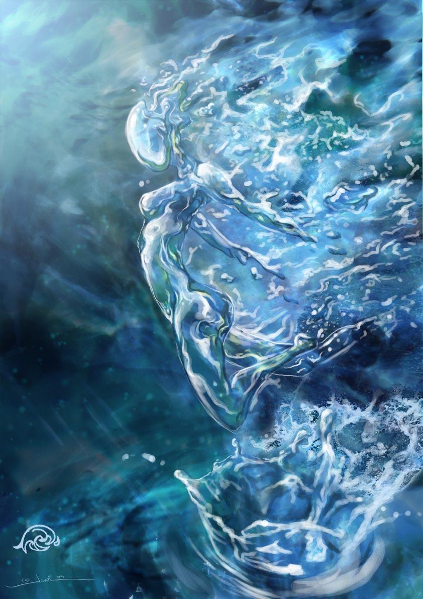 Water elemental by javi-ure