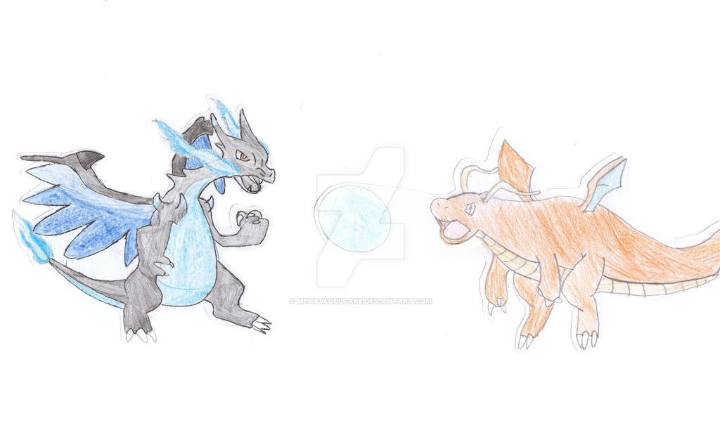 Dragonite vs Mega Charizard X by mehavecupcake on DeviantArt
