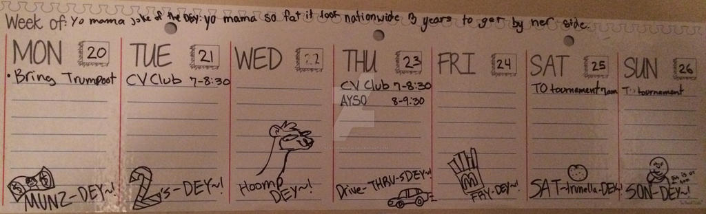 BEHOLD- THE DRY ERASE CALENDAR OF PUNS~ by CreativeWolf24 on DeviantArt