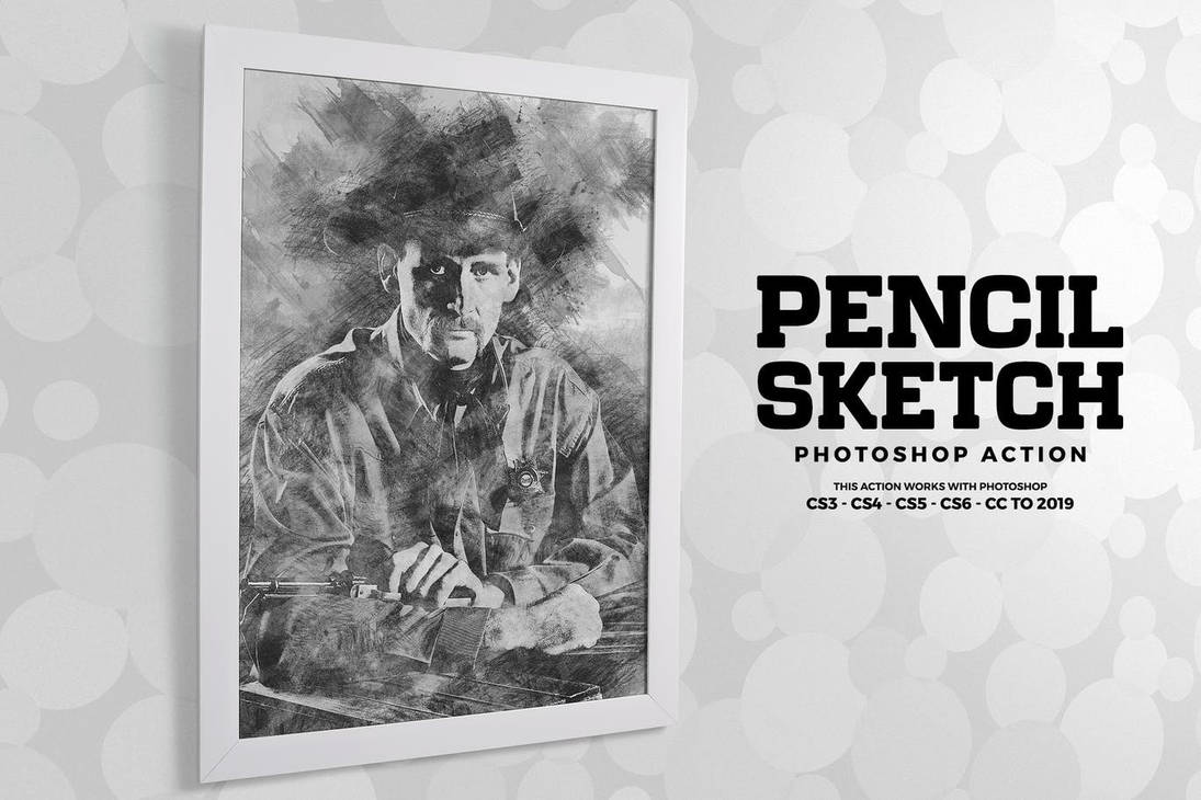Pencil sketch photoshop action by mindall