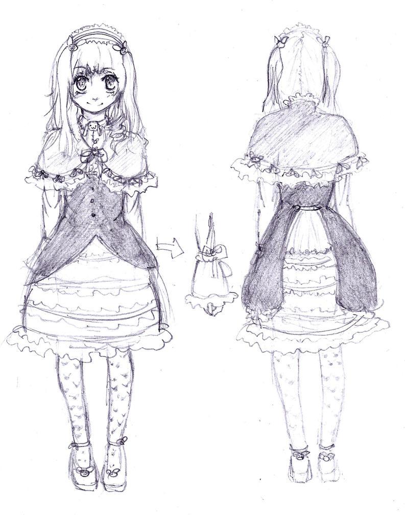 Dress Design Sketch By Kuroi-Sakuranbo On DeviantArt