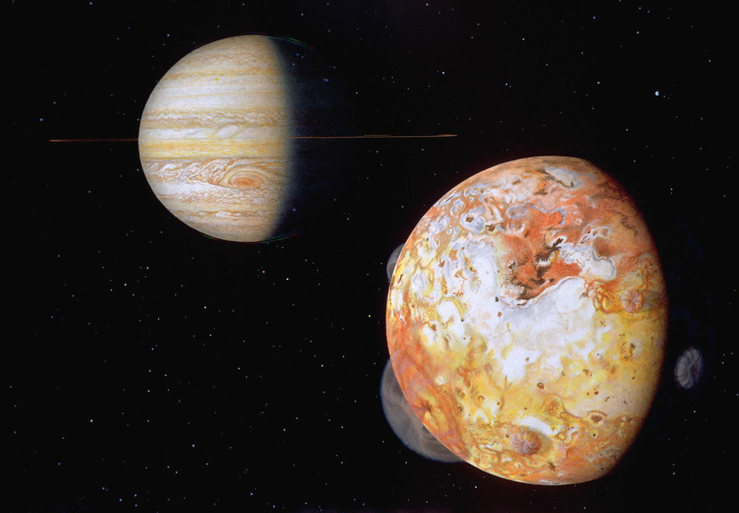Jupiter and Io by morbiusx33